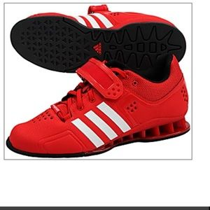 Adidas Adipower Men's Weight Lifting Shoes Red